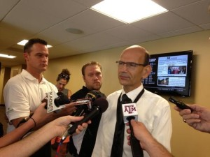 Paul Finebaum in College Station