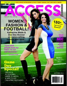 Katherine Webb and r, Dee Dee Bonner On the cover of Access Magazine,