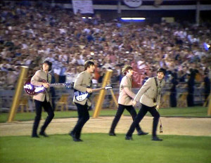 The Beatles Entering Shea Stadium