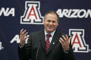 Arizona Coach Rich Rodriguez