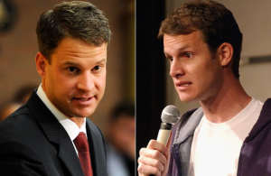 Lane Kiffin (l) and Daniel Tosh (r)