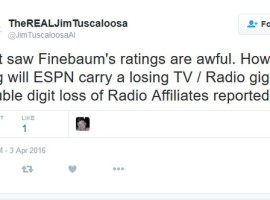 "From Twitter: ""Jim From Tuscaloosa"" Checks In With a Media Report"