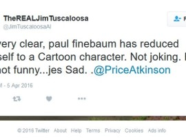 "From Twitter: ""Jim from Tuscaloosa"" Still Taking Shots at Paul Finebaum"