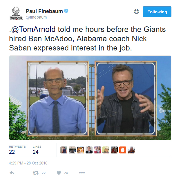Finebaum Tweets